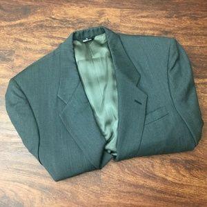 Perry Ellis Button Front Gray Blazer Sport Coat